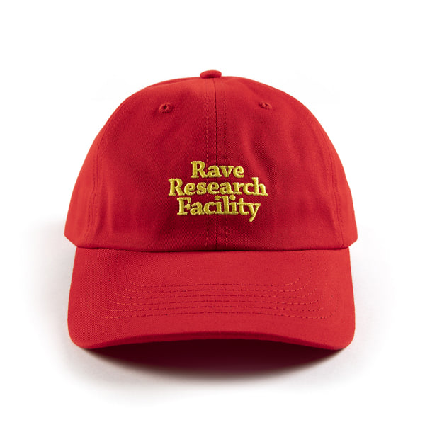 RAVE RESEARCH FACILITY red cap - RAVE skateboards