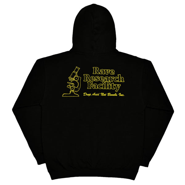 RAVE RESEARCH FACILITY black hoodie - RAVE skateboards