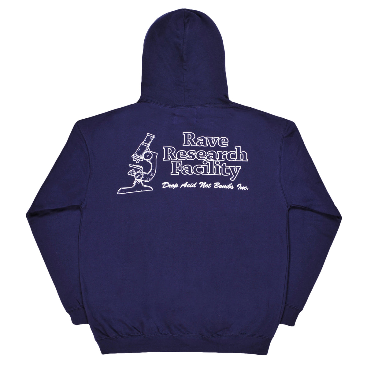 RAVE RESEARCH FACILITY navy hoodie - RAVE skateboards