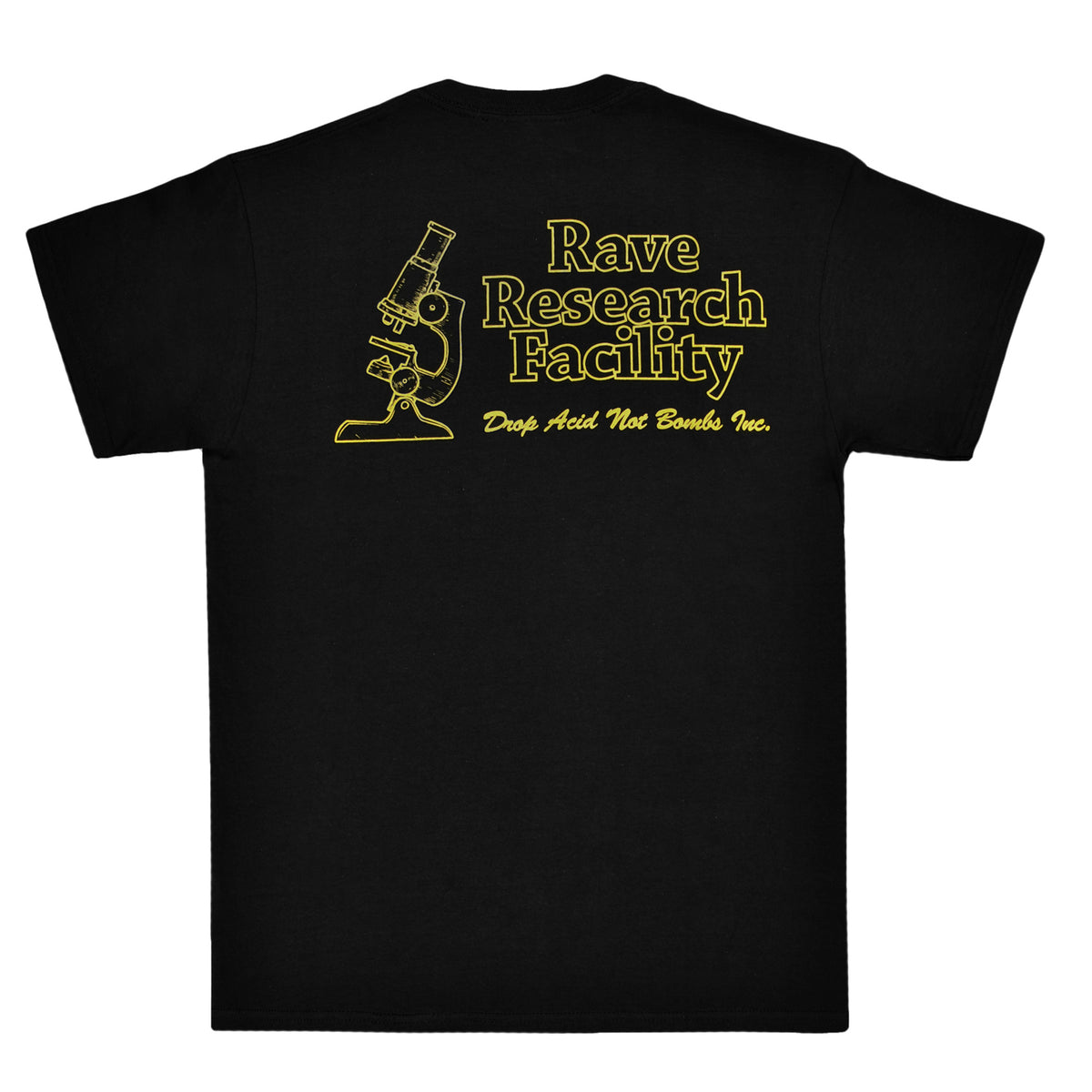 RAVE RESEARCH FACILITY black tee - RAVE skateboards