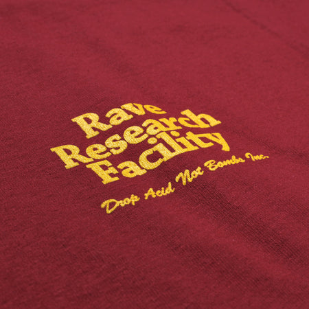 RAVE RESEARCH FACILITY red tee - RAVE skateboards