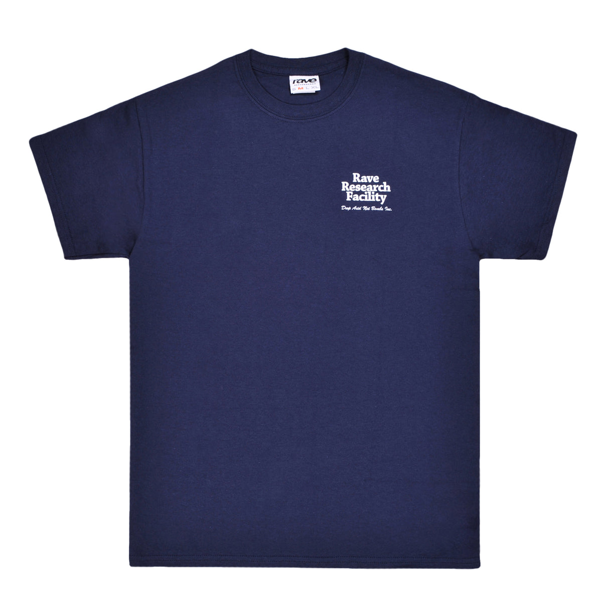 RAVE RESEARCH FACILITY navy tee - RAVE skateboards