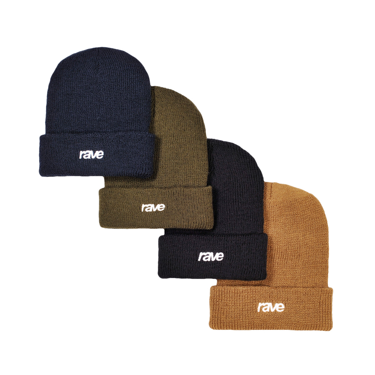 CLASSIC LOGO wool beanie olive - RAVE skateboards