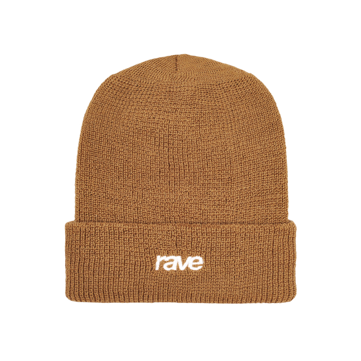 CLASSIC LOGO wool beanie light brown - RAVE skateboards