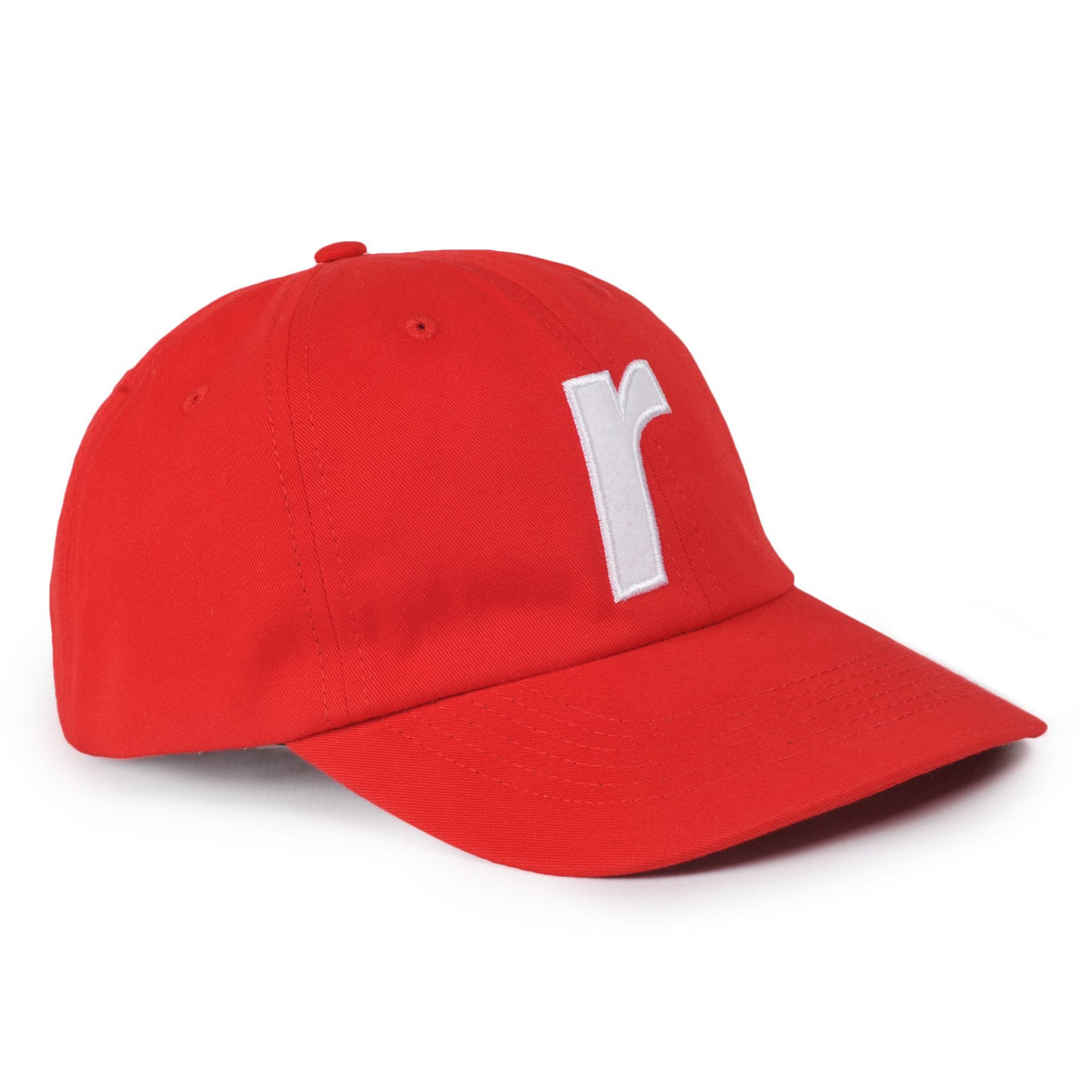 R felt logo cap red - RAVE skateboards