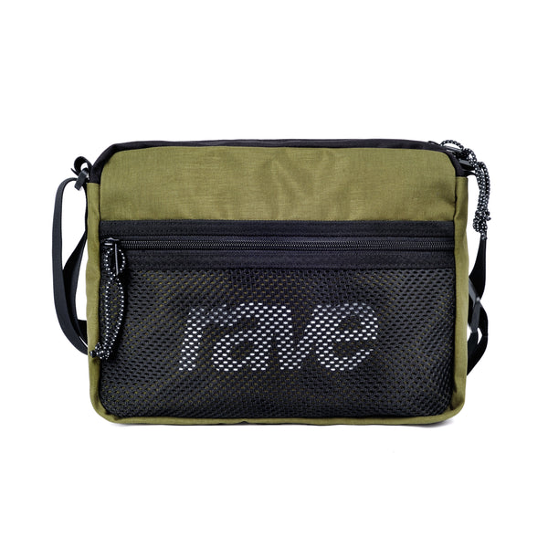 SHOULDER BAG olive black - RAVE skateboards