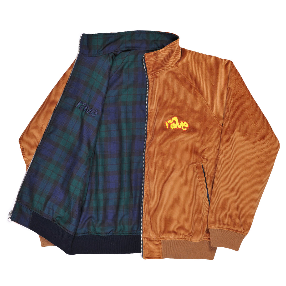 SPIKE cord reversible jacket camel - RAVE skateboards