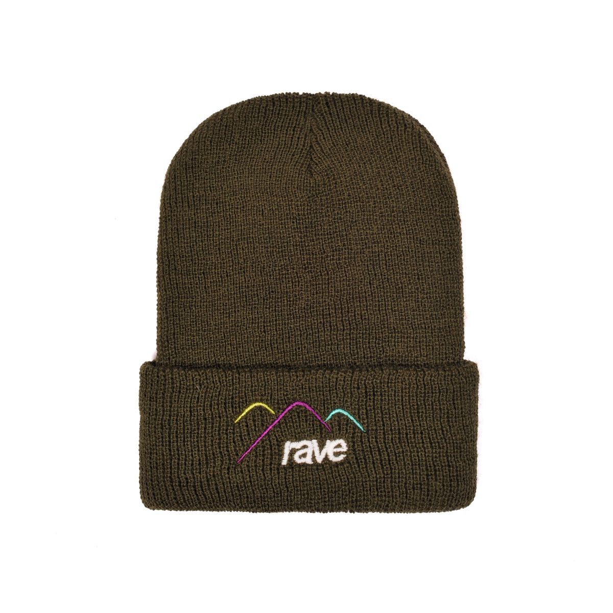 SUMMIT wool olive beanie - RAVE skateboards