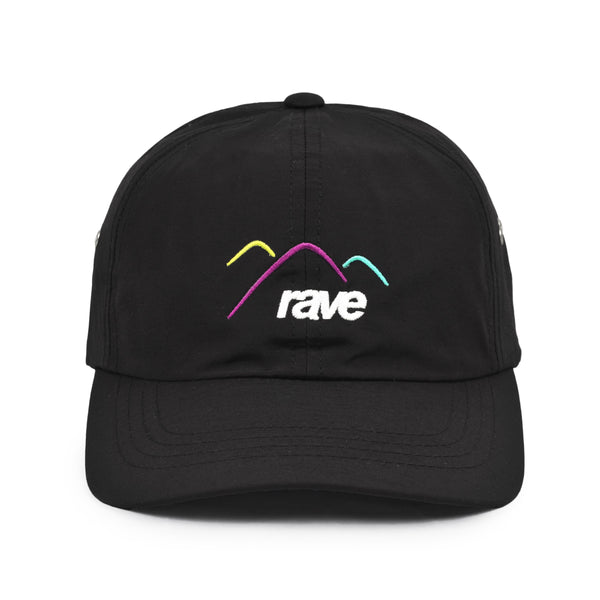 SUMMIT water repellent black cap - rave skateboards