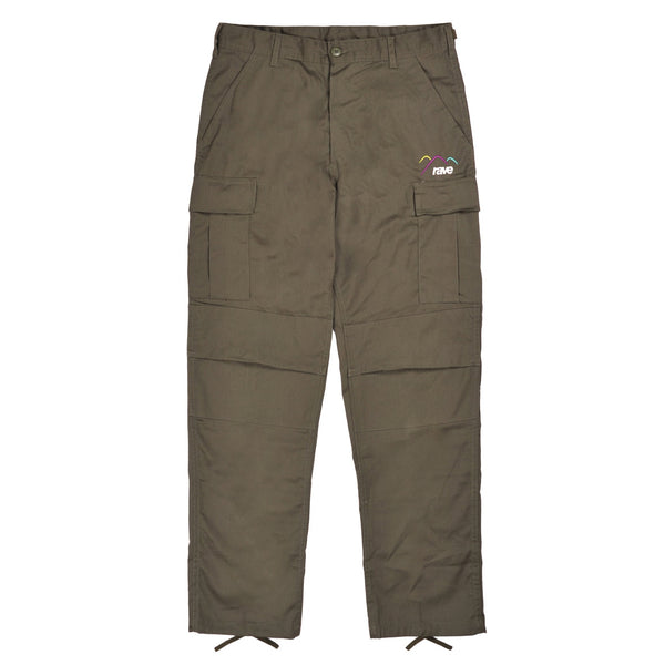 SUMMIT olive cargo pant - rave skateboards