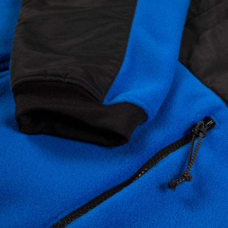 SUMMIT fleece hood jacket blue - RAVE skateboards