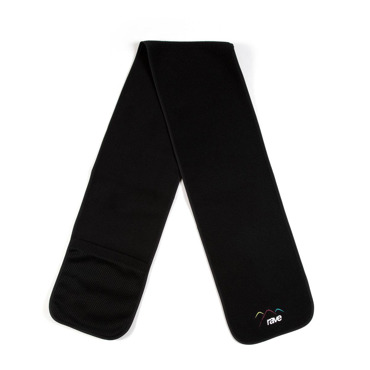 SUMMIT black fleece scarf - RAVE skateboards