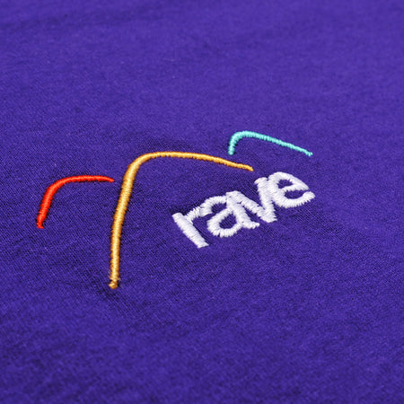 SUMMIT purple tee - RAVE skateboards