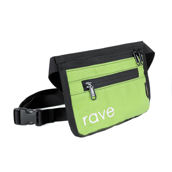 SLIM FANNY PACK lime - rave skateboards