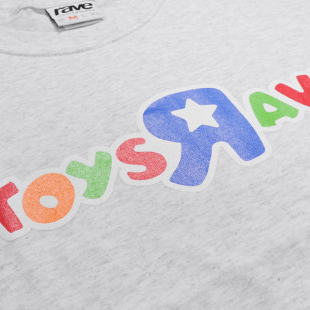 TOYS RAVE ash grey tee - RAVE skateboards
