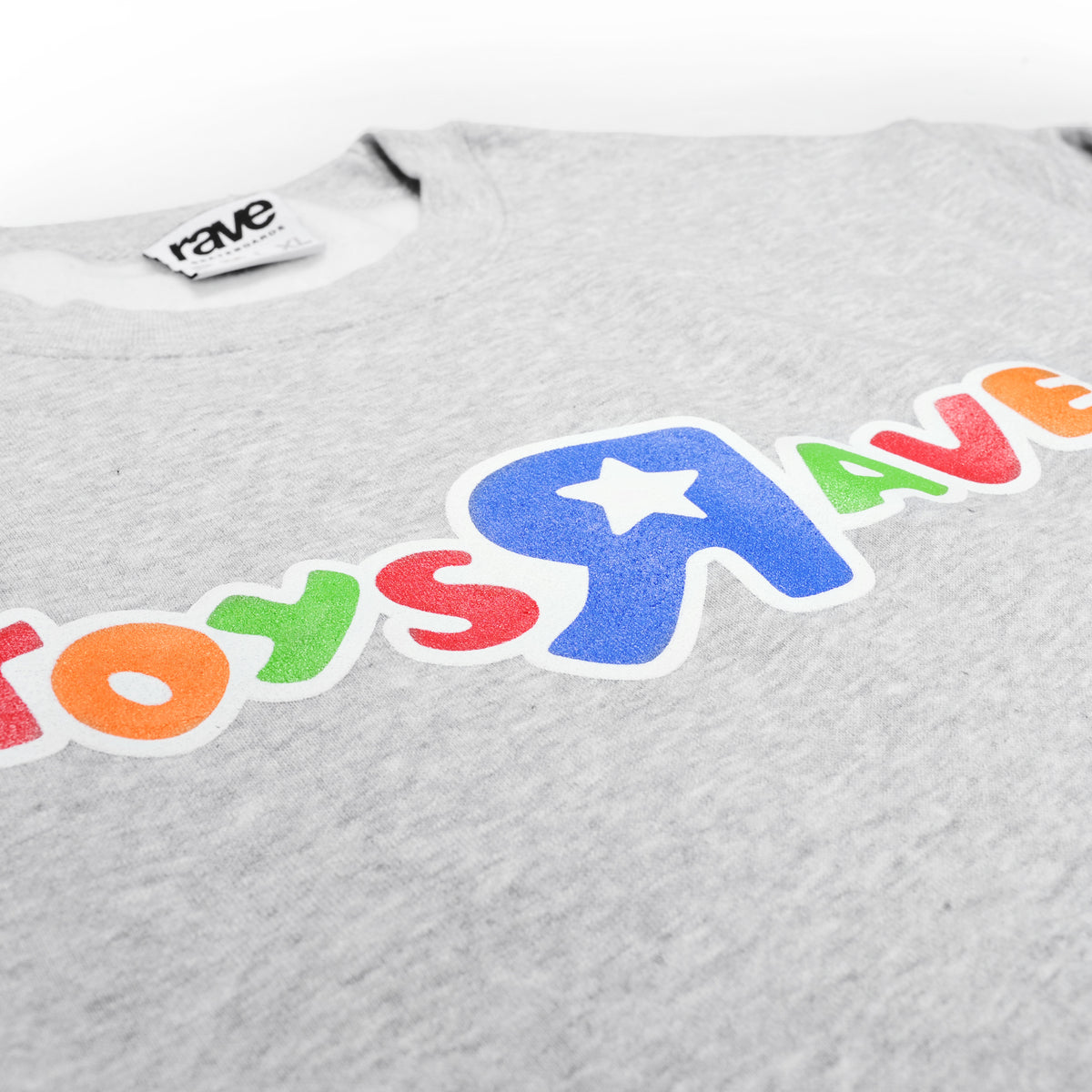 TOYS RAVE grey crewneck - RAVE skateboards