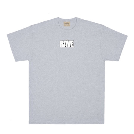 THE RAVE grey tee - RAVE skateboards