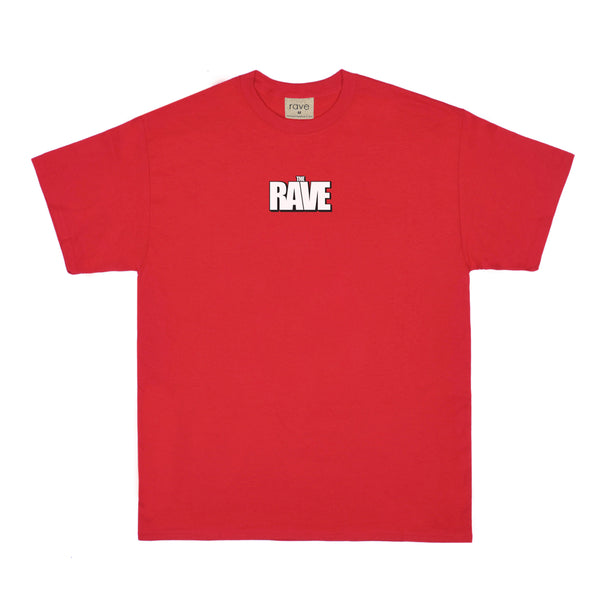 THE RAVE red tee - rave skateboards