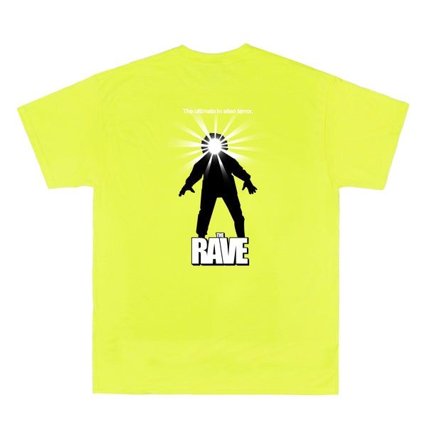 THE RAVE safety yellow tee - RAVE skateboards