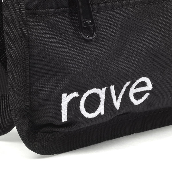 SLIM FANNY PACK black - rave skateboards