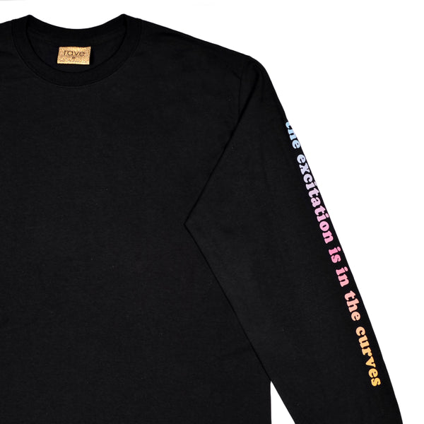BORA BORA black long sleeves tee - rave skateboards