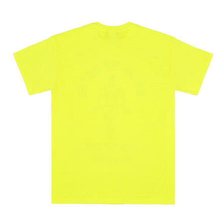 RAVE'S GYM safety yellow tee - rave skateboards