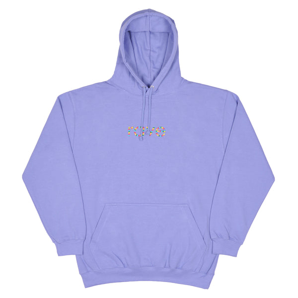 RAINBOW light violet hoodie - rave skateboards