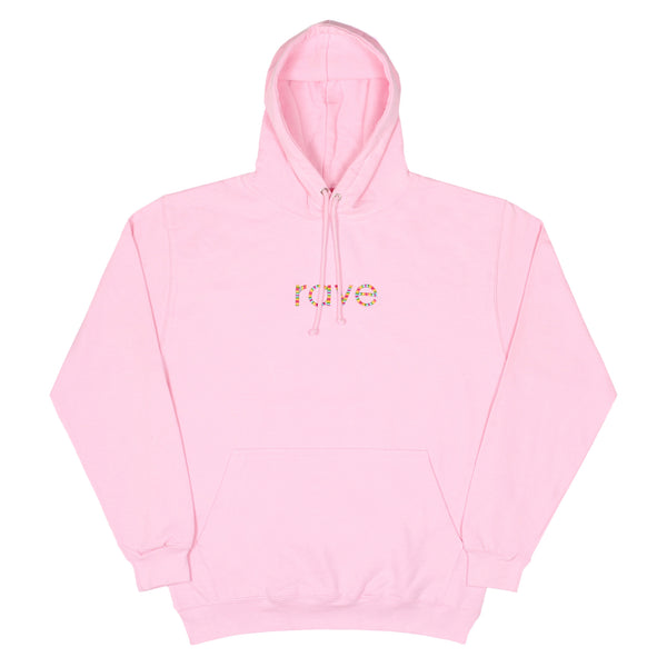RAINBOW light pink hoodie - rave skateboards