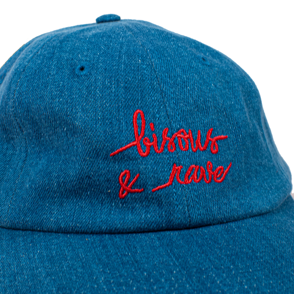 RAVE x BISOUS blue denim cap - rave skateboards