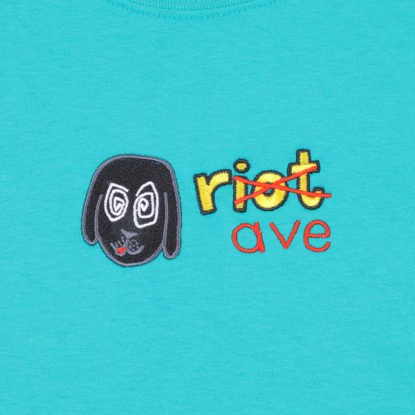 RAVE x RIOT collab' jade tee - rave skateboards