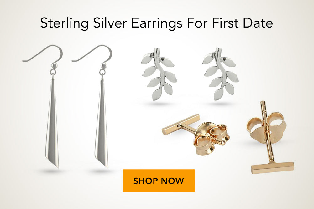 Sterling Silver Geometric Earrings Studs Drop Earrings