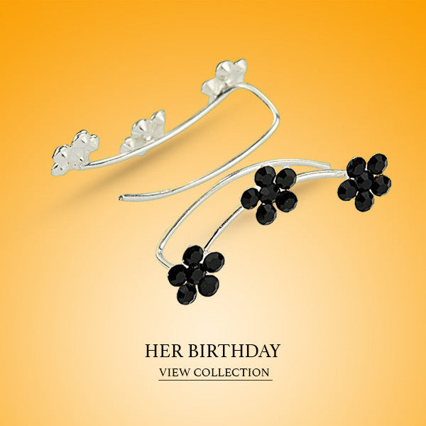 Boccai Collection Her Birthday Sterling Silver Earrings