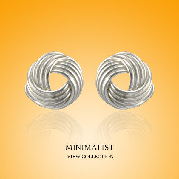Boccai Collection Minimalist Sterling Silver Earrings