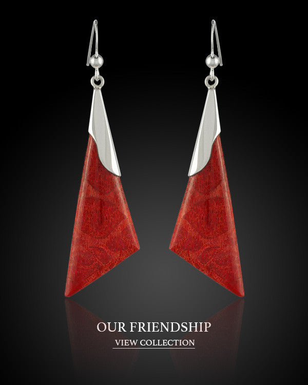Boccai Waterfall Collection Our Friendship Sterling Silver Earrings
