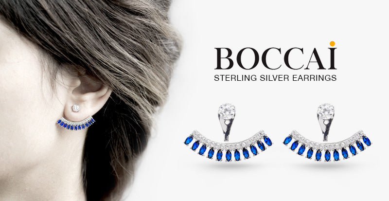 Boccai Sterling Silver Earring Jackets