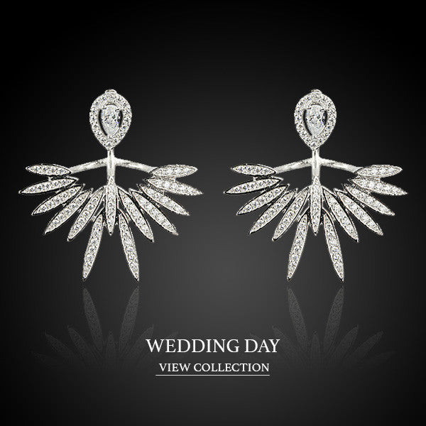 Boccai Wedding Collection Sterling Silver Earrings