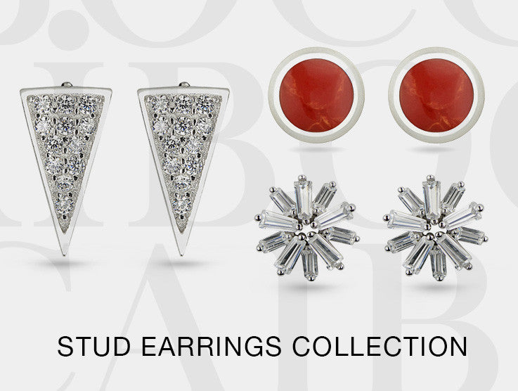 Boccai Silver Stud Collection Earrings