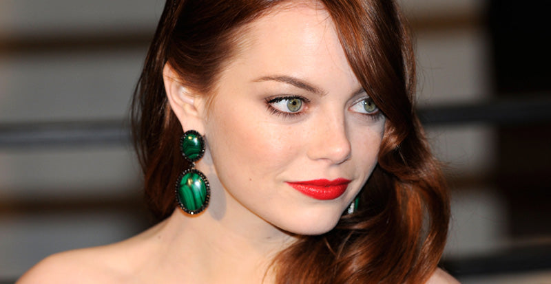 Emma Stone Green Earrings