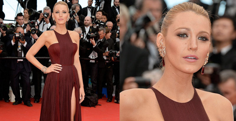 Blake Lively Red Earrings Red Carpet