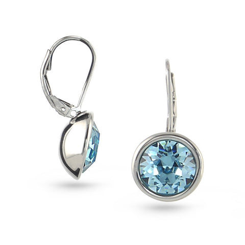 Aquamarine Swarovski Crystal Drop Earrings