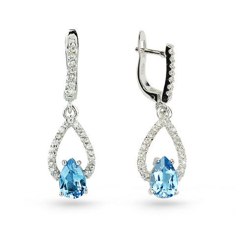 Sky Blue Topaz Drop Earrings No.5