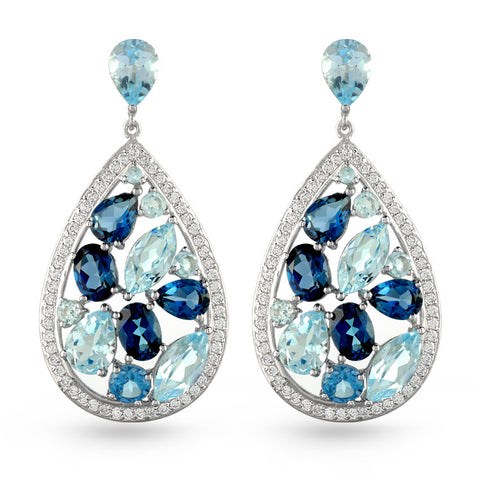 Blue Topaz Drop Earrings No.1