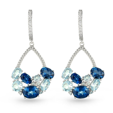 Blue Topaz Drop Earrings No.3