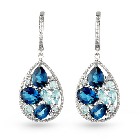 Blue Topaz Drop Earrings No.2