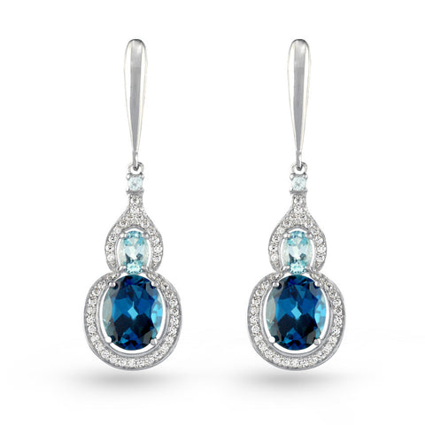 Blue Topaz Drop Earrings No.4