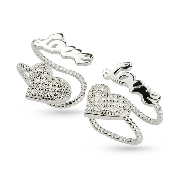 Love Message Non Pierced Ear Cuff Earrings