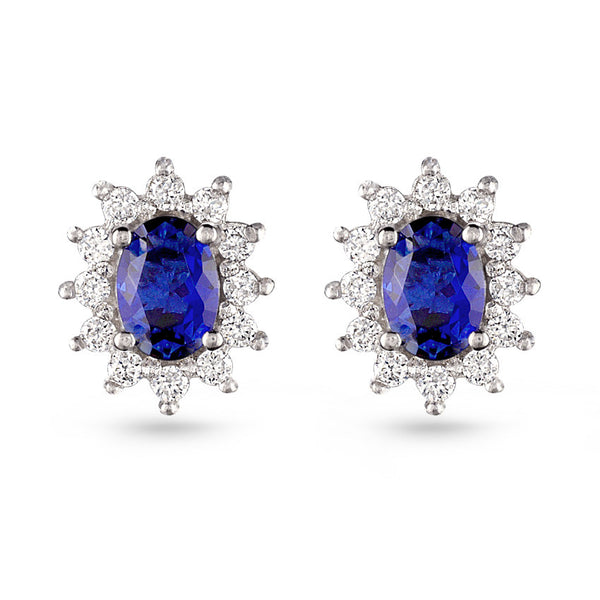 Sapphire Blue Stud Earrings