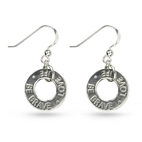 Love Message Round Drop Earrings