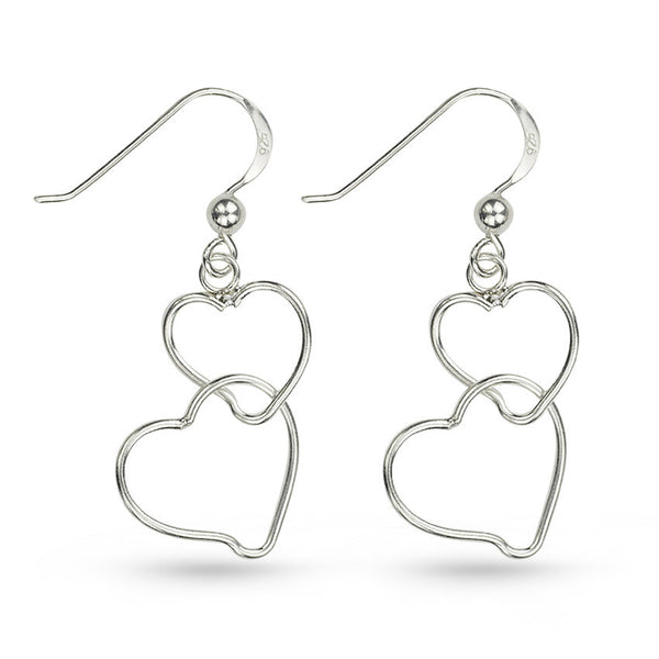 Heart To Heart Always Together Drop Earrings