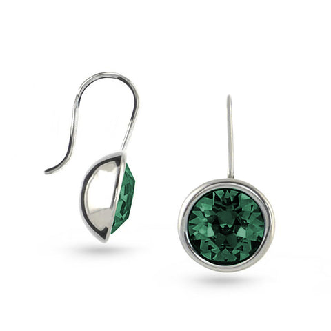 Emerald Green Swarovski Crystal Drop Earrings No.2
